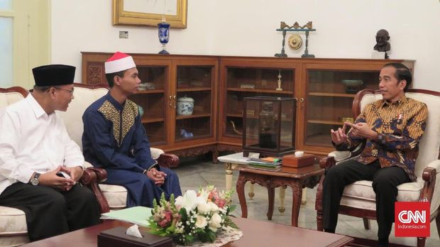 Pertemuan Syamsuri dengan Jokowi, di Istana Merdeka.