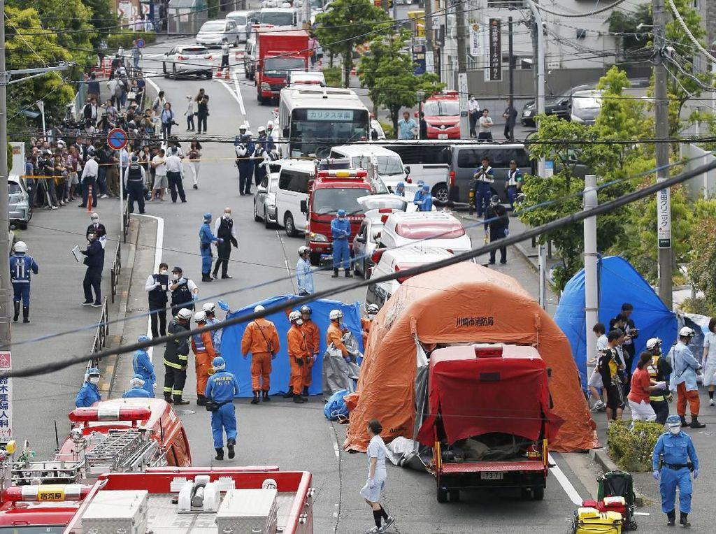 Pelaku Penikaman Massal di Jepang Ditangkap, Sempat Tikam Diri Sendiri