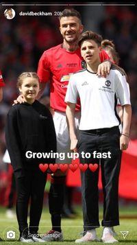 Dukungan Manis Anak Saat David Beckham Kembali Bermain Sepakbola