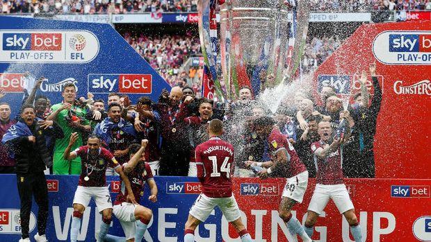 Aston Villa ke Liga Primer Inggris usai mengalahkan Derby County 2-1 di final play-off. (