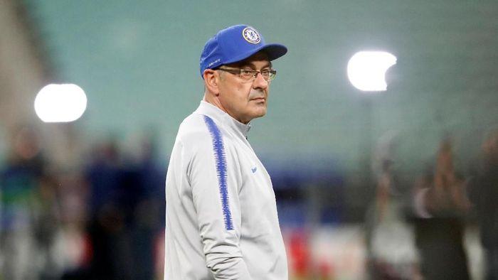 Maurizio Sarri meninggalkan Chelsea dan gabung Juventus. (REUTERS/Maxim Shemetov)