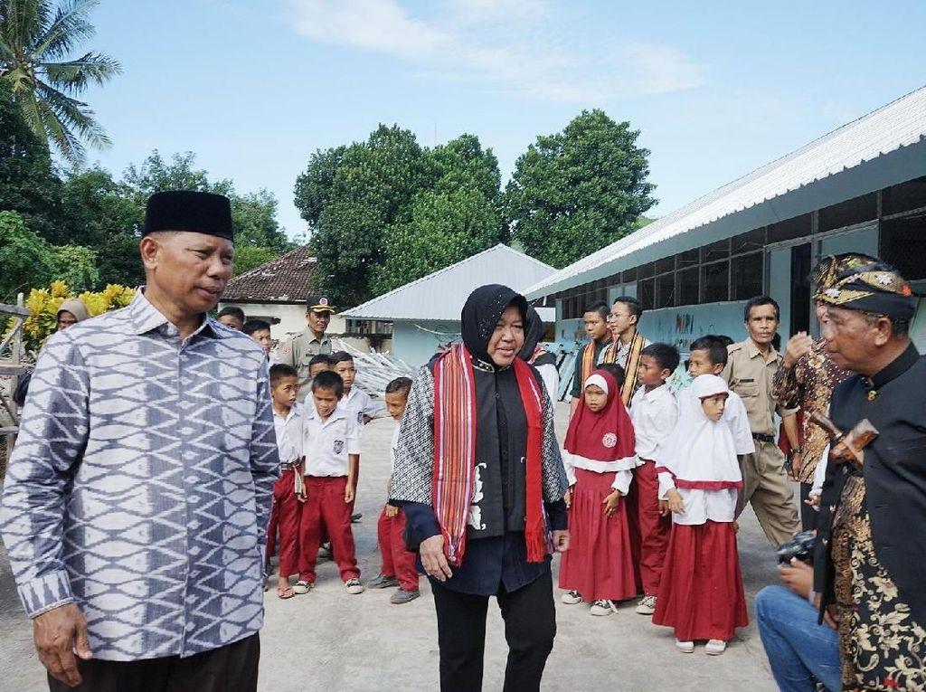 Wali Kota Risma Resmikan dan Serahkan Gedung SD Tahan Gempa di Lombok
