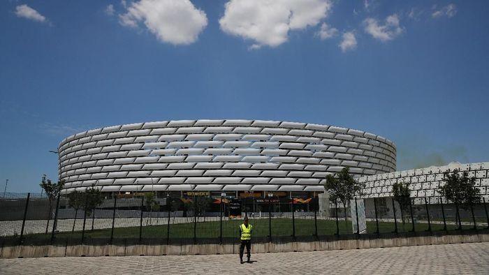 Baku Olympic Stadium, venue final Liga Europa yang mempertemukan Chelsea vs Arsenal, Kamis (30/5/2019). (Foto: Phil Noble/Reuters)