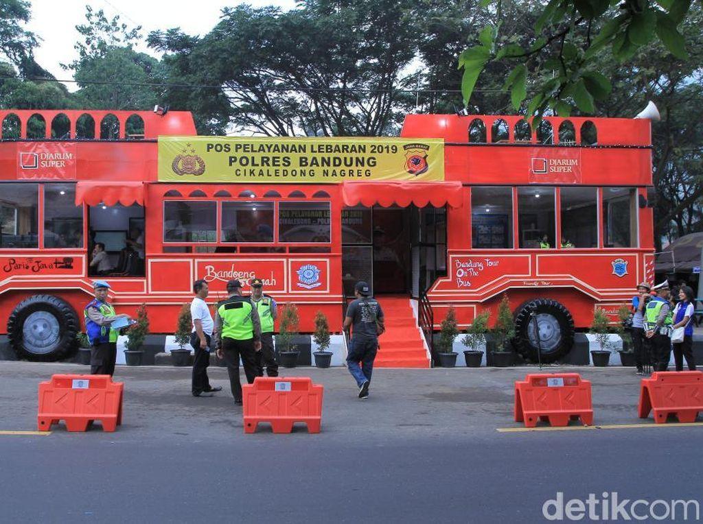 Unik, Posko Mudik di Nagreg Mirip Bus Wisata Kota Bandung