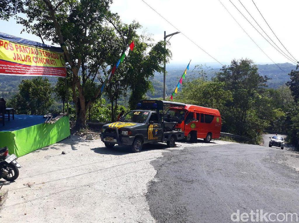 Bus Besar dan Truk Terbuka Dilarang Lewat Cino Mati di Bantul