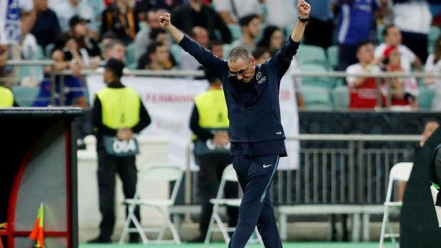 Maurizio Sarri dibuat frustrasi jelang final Liga Europa 2019.