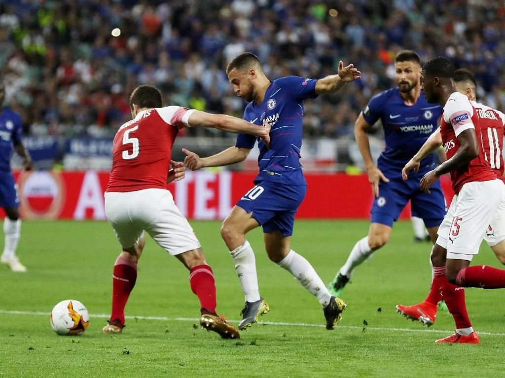 Babak I Final Liga Europa, Chelsea vs Arsenal Masih 0-0