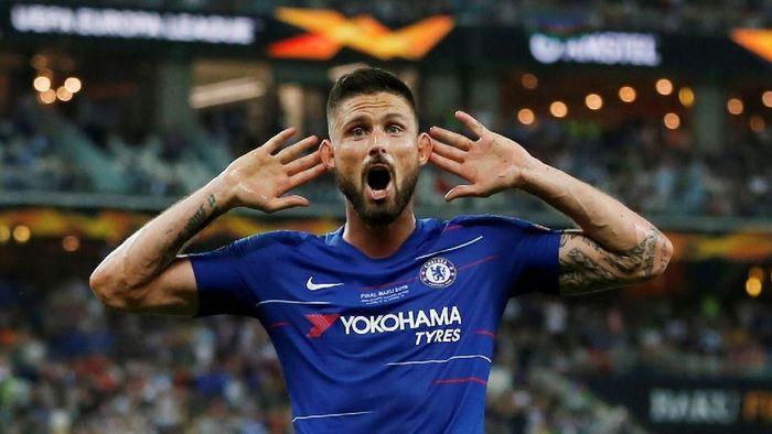 Olivier Giroud top skorer Liga Europa. (Foto: Amr Abdallah Dalsh/REUTERS)