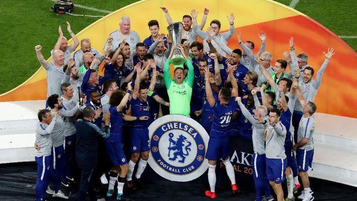 Chelsea juara Liga Europa usai mengalahkan Arsenal 4-1. (Foto: Anton Vaganov/REUTERS)