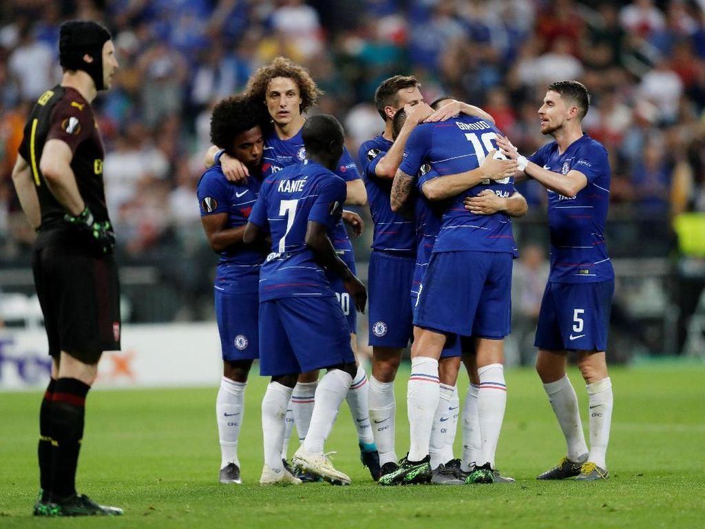 Hasil Final Liga Europa 2019: Chelsea 4-1 Arsenal