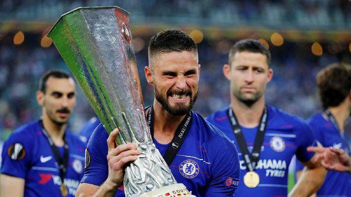 Olivier Giroud menyebut Chelsea pantas menang atas Arsenal di final Liga Europa (REUTERS/Phil Noble)