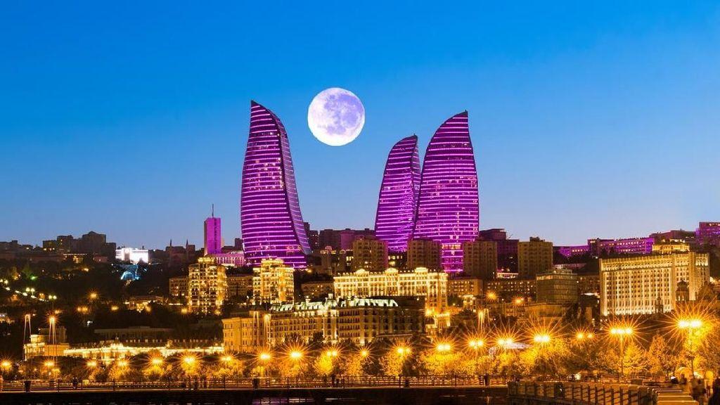Foto: Baku yang Indah, Tempat Chelsea Juara Liga Europa