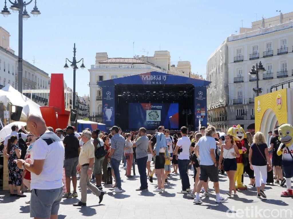 Begini Meriahnya Kota Madrid Jelang Final Liga Champions
