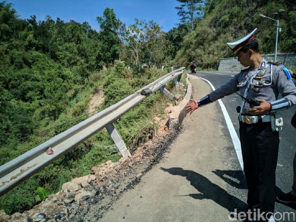 Rawan Laka, Polisi Minta Dishub Pasang Guardrail di Jalur Ponorogo-Pacitan