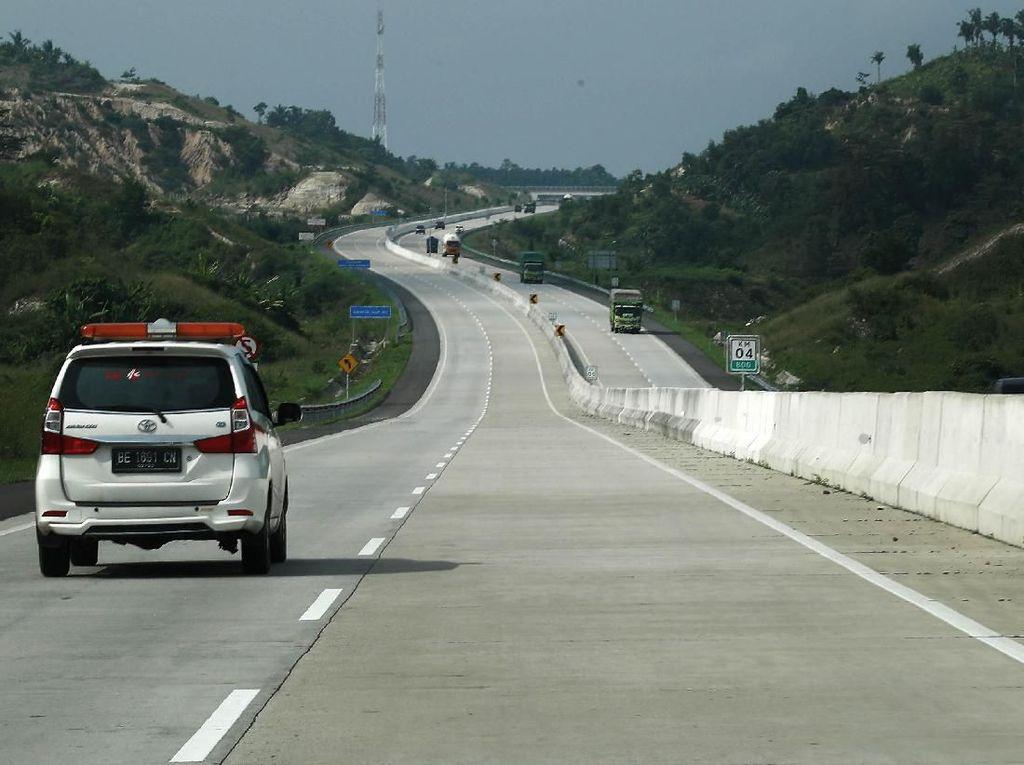 Mudik Dilarang, Kendaraan di Tol Trans Sumatera Mulai Dibatasi
