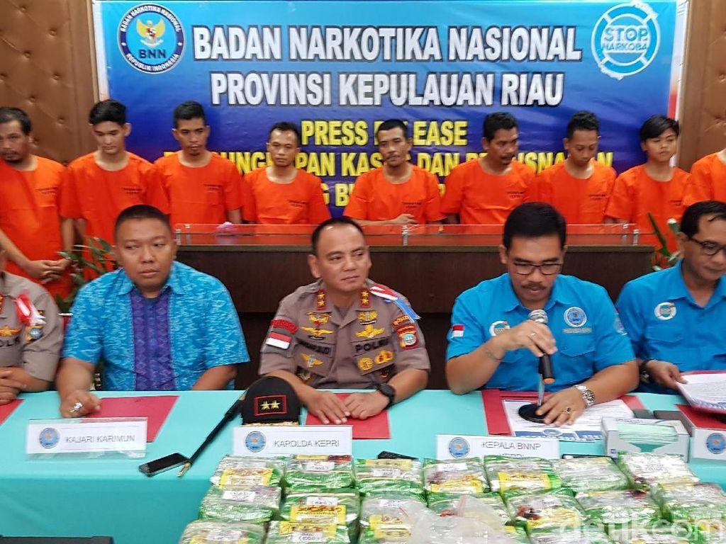 Bongkar Jaringan Narkotika Internasional, BNNP Kepri Sita 26 Kg Sabu