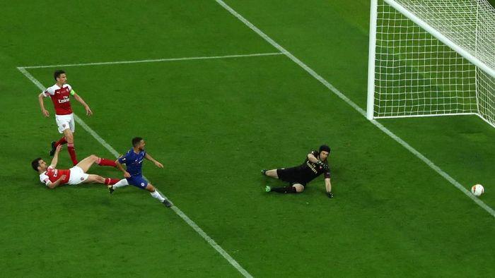 Gawang Arsenal bobol empat kali di final Liga Europa (Foto: Francois Nel/Getty Images)