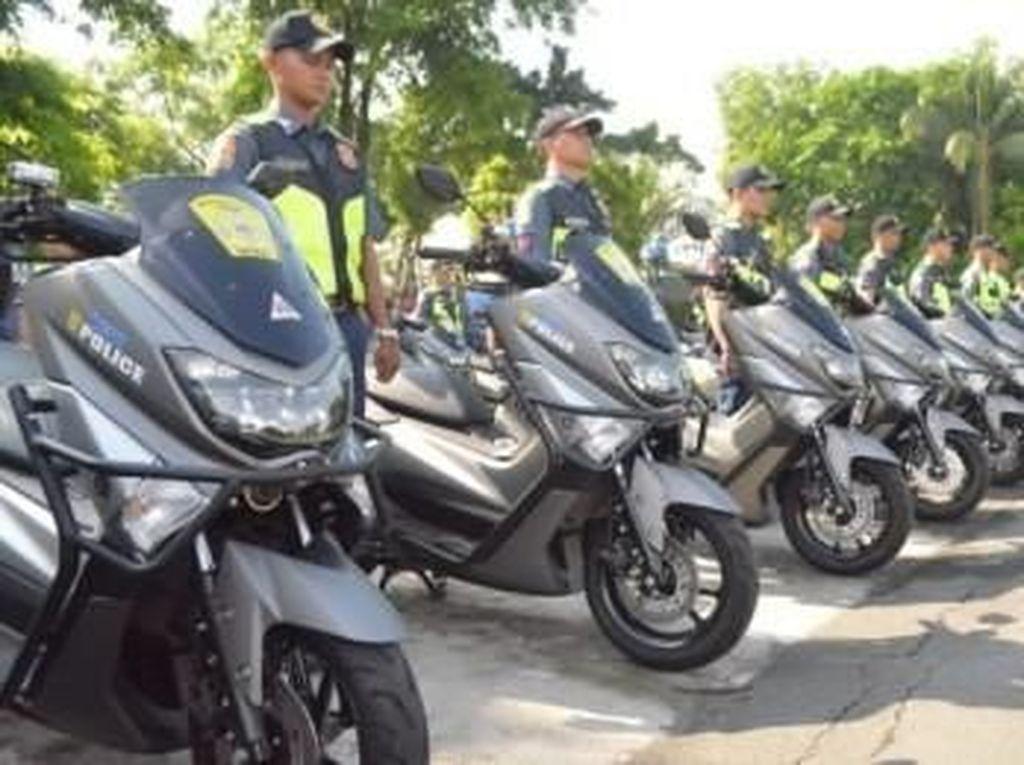 Polisi Filipina Pakai Yamaha Nmax Buat Ngebut Kejar Penjahat