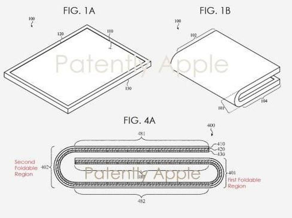 Bocoran Paten Ini Ungkap Wujud Perangkat Layar Lipat Apple