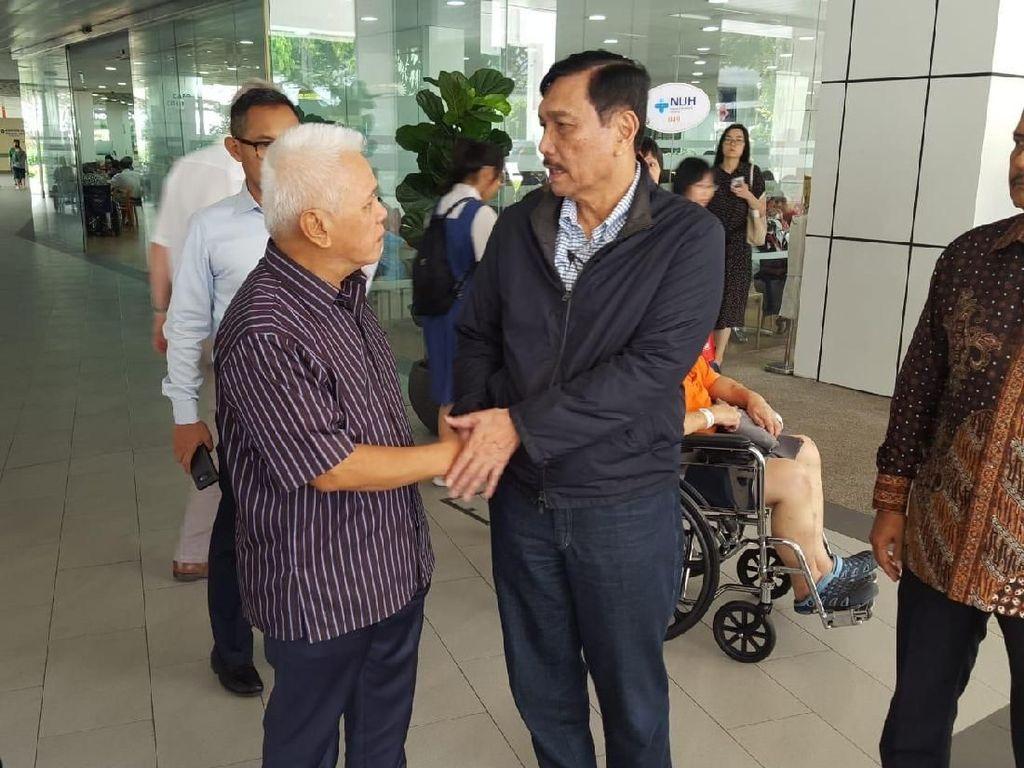 Jenguk Ani Yudhoyono, Luhut Binsar Diterima Hatta Rajasa