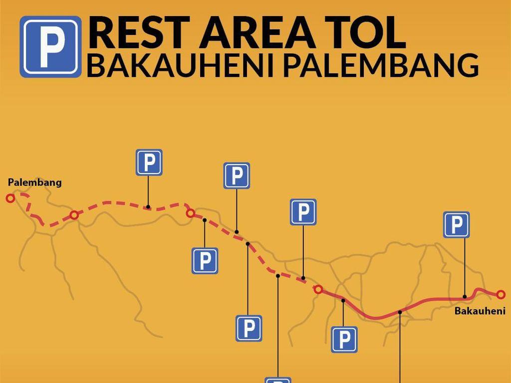 Ini Lokasi Rest Area di Tol Bakauheni-Palembang, Tol Terpanjang RI