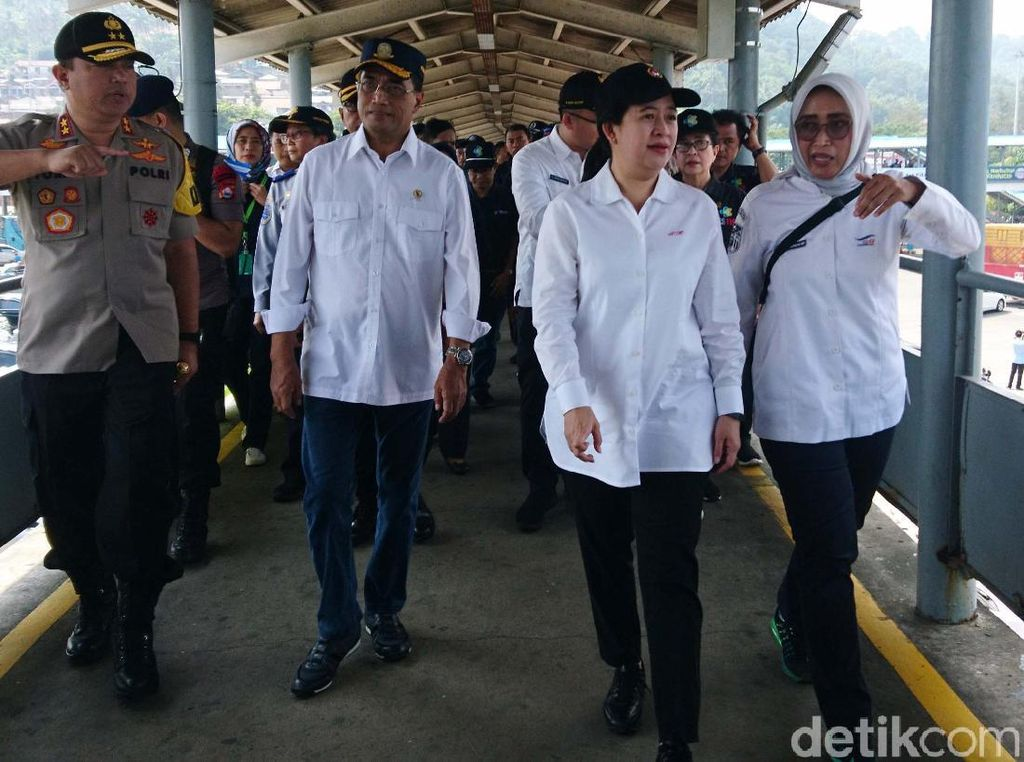 Tiga Menteri Jokowi Pantau Arus Mudik di Pelabuhan Merak