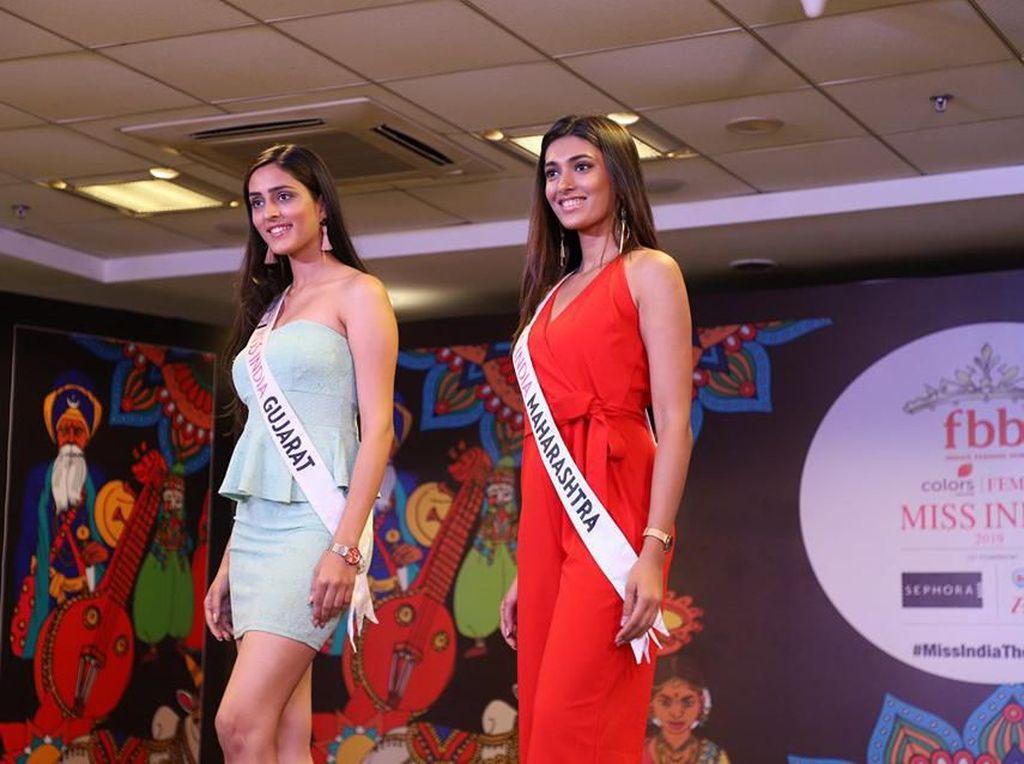 Pesona Para Finalis Miss India 2019 yang Dikritik, Wajah Mereka Dianggap Sama