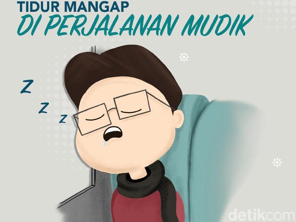 Derita Mudik Naik Mobil, Mulut Kering karena Tidur Mangap