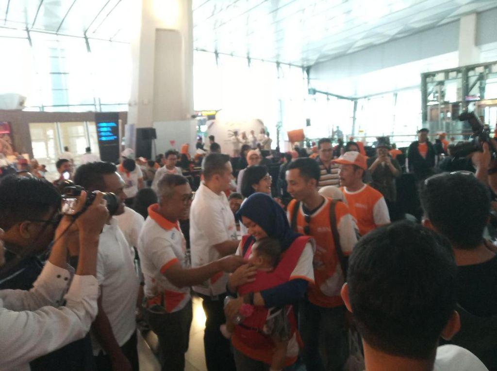 250 Orang Ikut Mudik Gratis Naik Pesawat dari Bandara Soetta