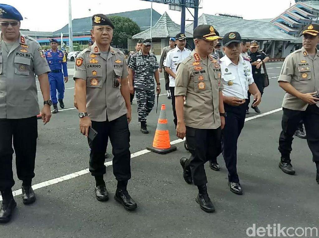 Cek Keamanan dan Kesiapan, 5 Jenderal Polisi Sidak Pelabuhan Ketapang