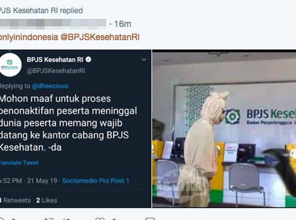 Meme Pocong Viral, BPJS Jelaskan Penonaktifan Peserta yang Meninggal