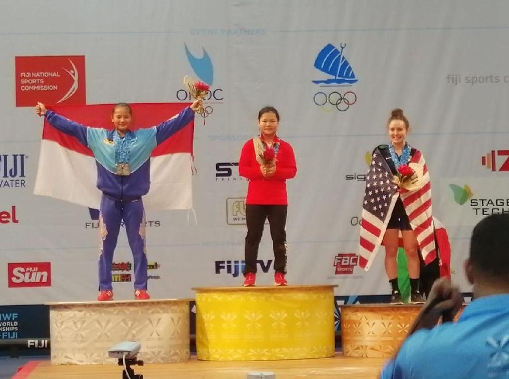 Lifter Windy Cantika Pertajam Rekor di Kejuaraan Dunia Junior 2019