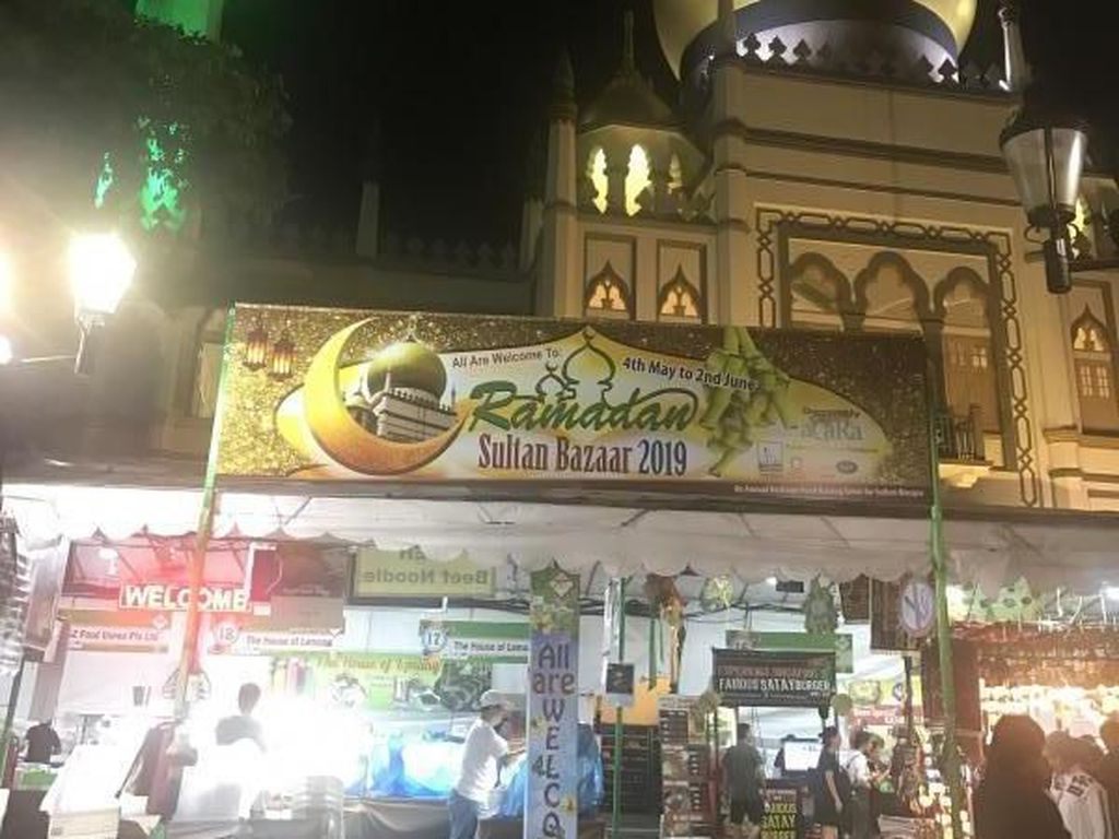Asyiknya Buka Puasa di Masjid Sultan, Singapura