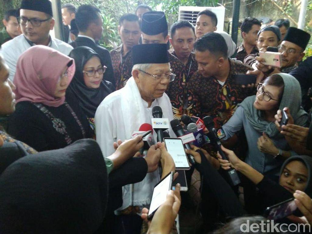 Maruf Amin: Semoga Keluarga Ani Yudhoyono Sabar Menerima Musibah