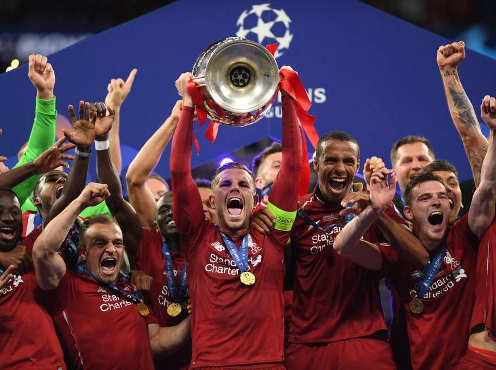 Liverpool Angkat Trofi ke-6 di Liga Champions
