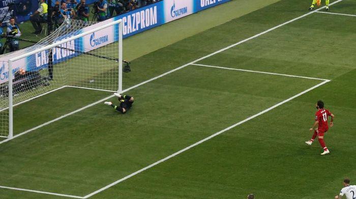 Gol Mohamed Salah bukan yang tercepat di final Liga Champions (REUTERS/Sergio Perez)