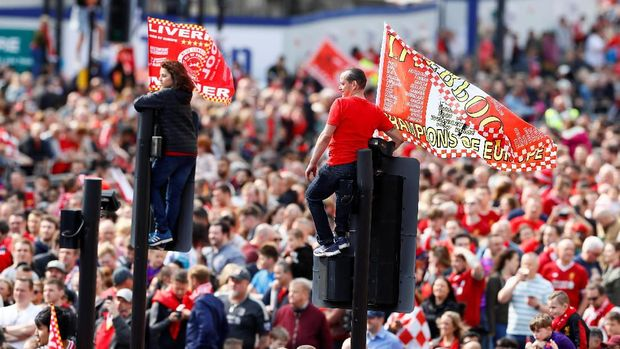 Antusiasme Liverpudlian Saat Parade Juara The Reds Bikin Klopp Tersentuh