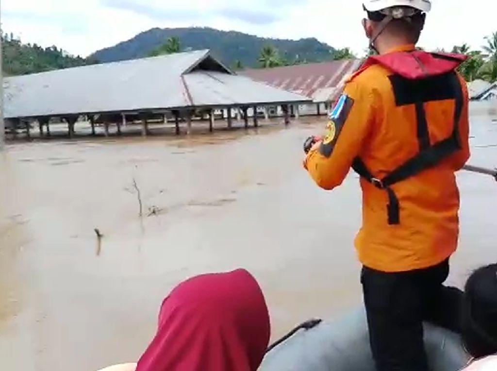 Banjir Konawe Utara Surut, SAR Kendari Tetap Siaga