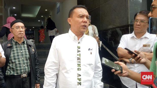 Waketum Gerindra Sufmi Dasco Ahmad di Mapolda Metro Jaya, Senin (3/6)
