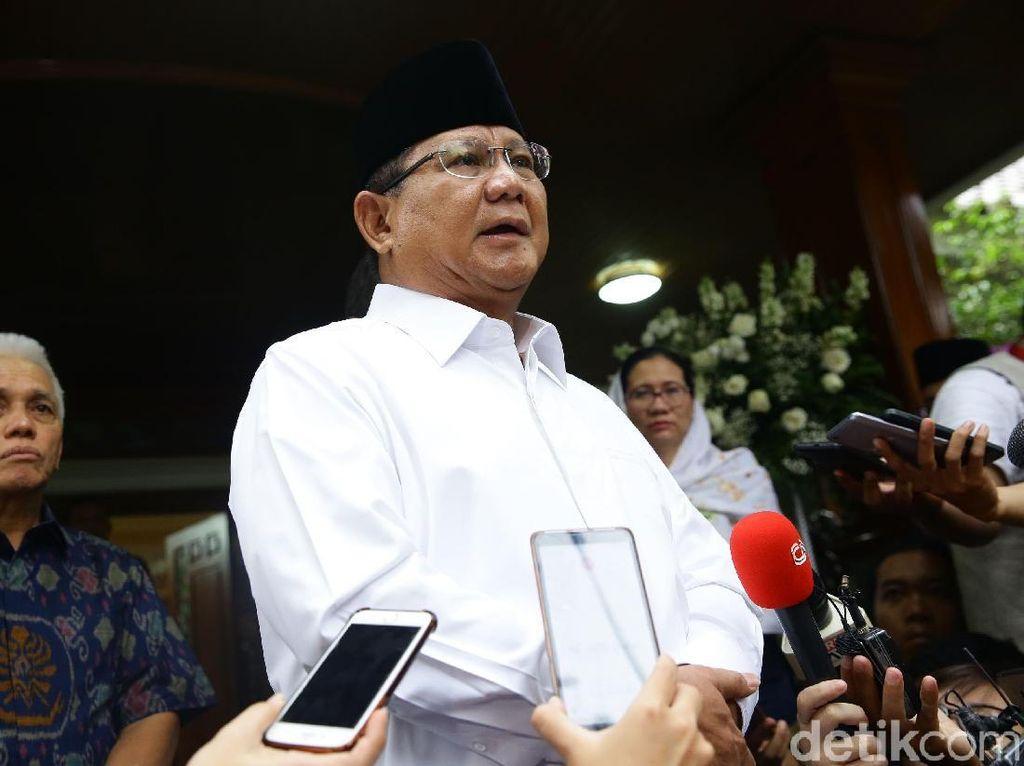 Hinca: Prabowo Lapor Tempuh Jalur MK, SBY Sebut Langkah Terbaik