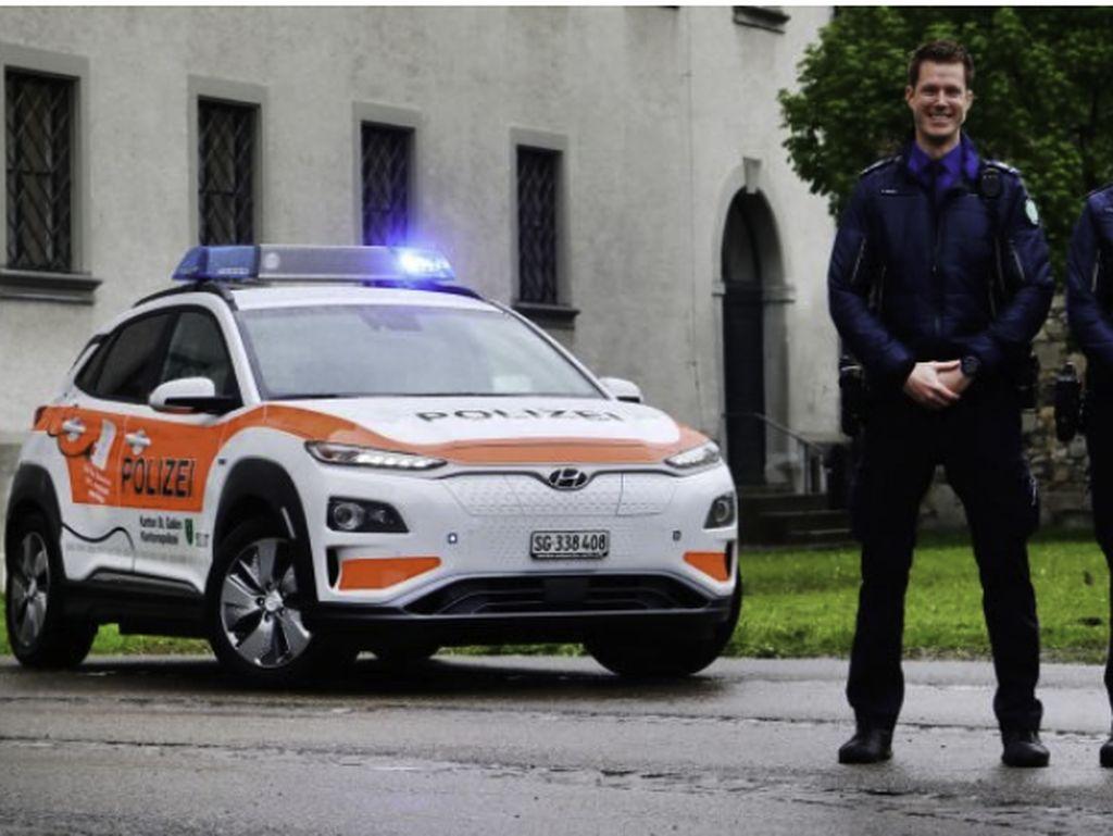 Polisi di Swiss Mulai Pakai Hyundai Kona Listrik