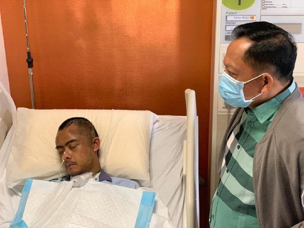 Kompol Aditia Korban Pengeroyokan Sudah Pulang Usai Dirawat di Singapura