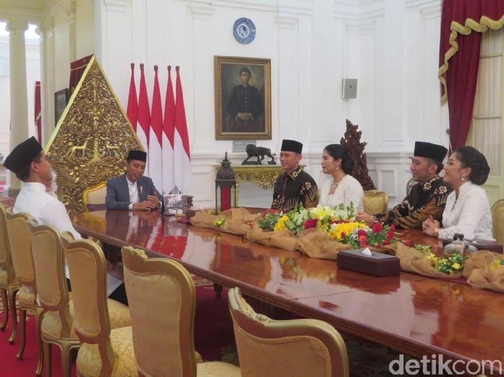 Halalbihalal ke Istana, AHY: Silaturahmi Keluarga SBY-Jokowi Harus Dijaga