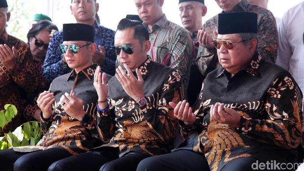 Makna di balik seragam lebaran keluarga SBY/ Foto: Lamhot Aritonang