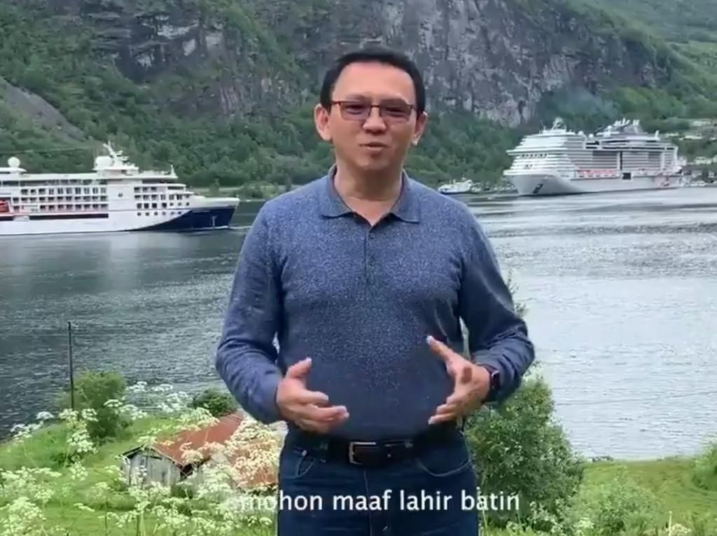 Ahok dan Mantan Istri Veronica Tan Ucapkan Selamat Idul Fitri