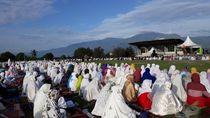 Khatib Salat Id di Pengungsian Gempa Palu Minta Warga Tabah Hadapi Bencana