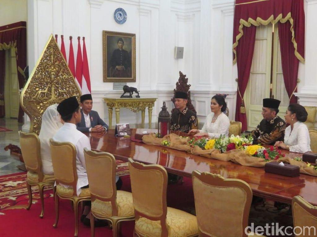 Usai Ziarah ke Kalibata, AHY dan Ibas Silaturahmi ke Jokowi di Istana