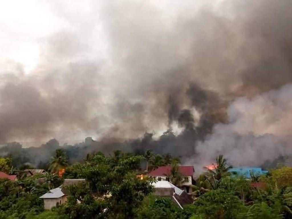 Desa Gunung Jaya Buton Kondusif Pascabentrok yang Hanguskan 87 Rumah