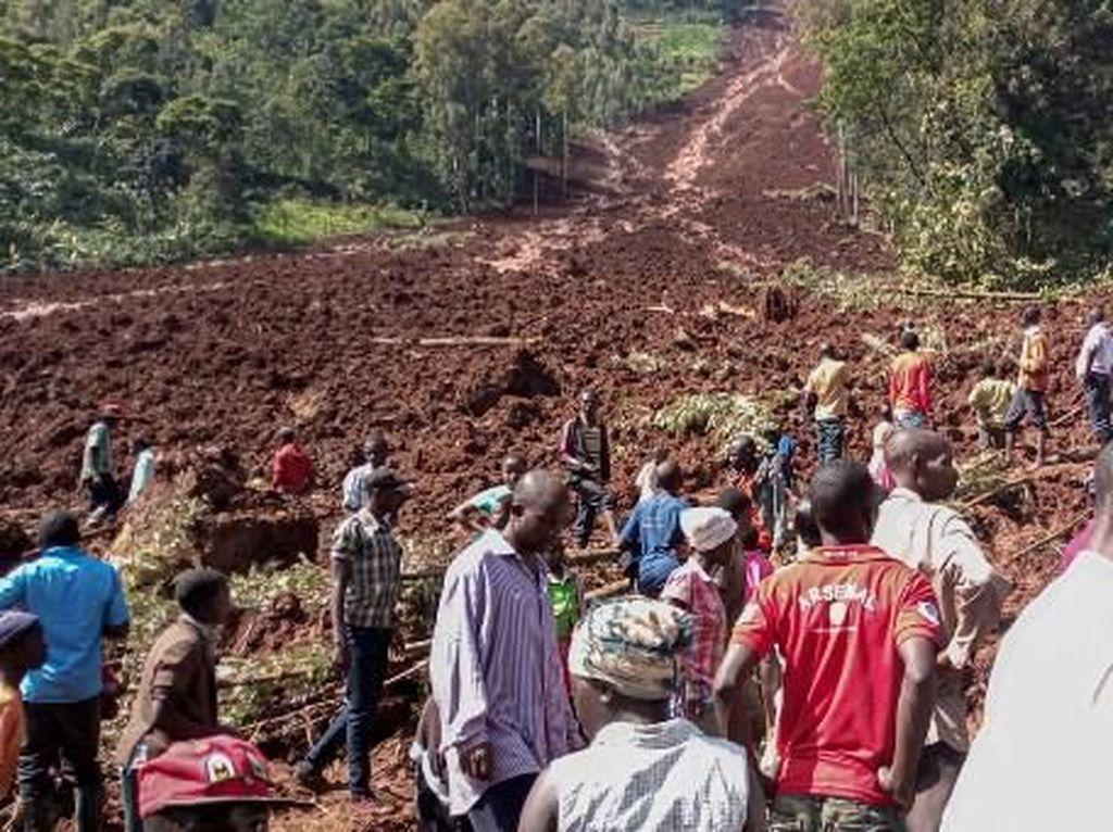 Longsor Terjang Timur Uganda: 6 Orang Tewas, 50 Hilang