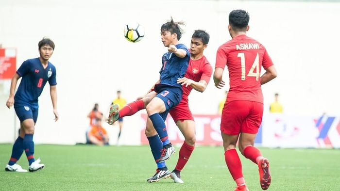 Timnas Indonesia U-23 kalah dari Thailand. (Foto: Flona Hakim)